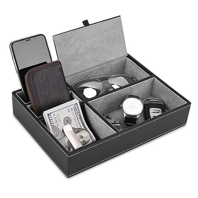Tháng sáu trường hợp đồng hồ, 12 khe PU leather case lưu trữ box jewelry lưu trữ ngăn kéo hiển thị đ