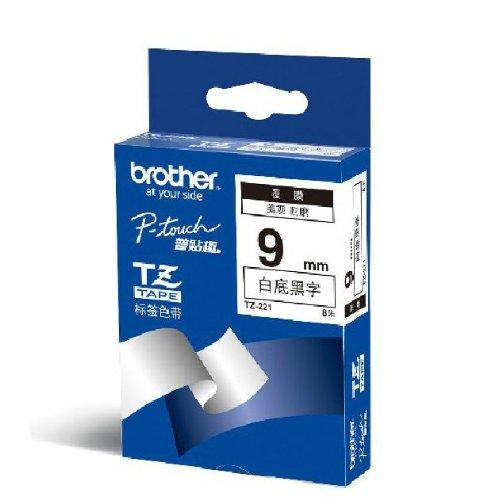 Brother Brothers TZe-221 Ruy băng đen trắng (8 m) (Dành cho PT-18Rz 1010 1280 2030 2100 2430PCz 2730