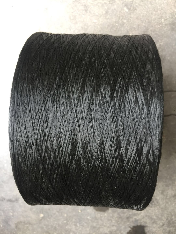 Nhà máy của chúng tôi sản xuất dây an toàn bằng lụa polypropylen cường độ cao màu đen