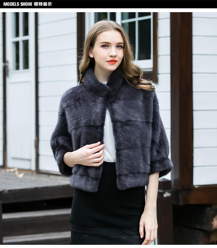 Áo khoác lông xám kiểu dáng dành cho nữ