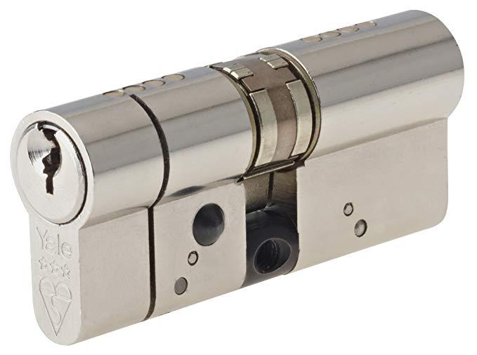 Yale Khóa Anti-Snapshot Platinum Xi lanh châu Âu Series Multicolor 50/50 (100mm) Nickel sáng YALASP5