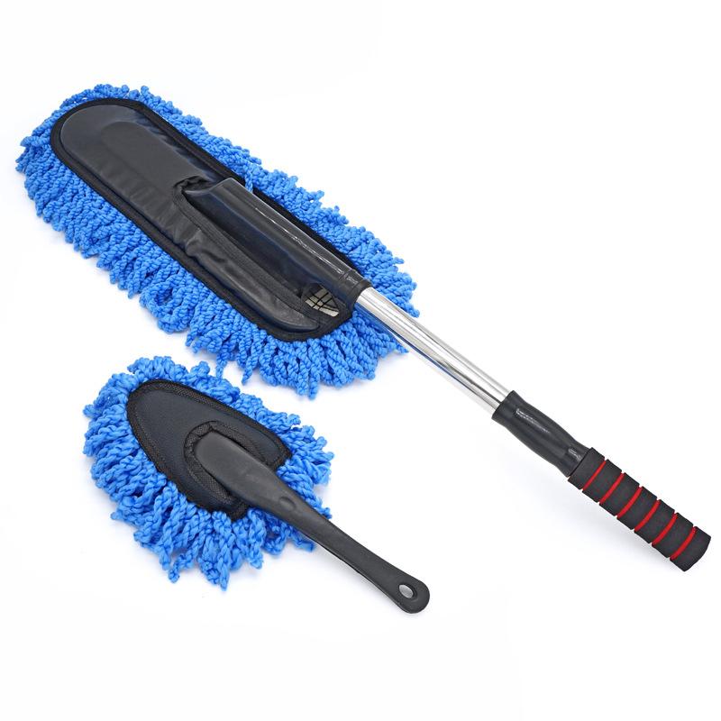 SUMAI Dụng cụ rửa xe Kết hợp đặc biệt bộ công cụ rửa xe Có thể tháo rời bàn chải sáp nhỏ bàn chải nh