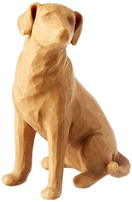 Willow Tree Đồ trang trí bằng gỗ Cây liễu yêu con chó của tôi - Bức tượng ánh sáng, RESIN, Nhiều màu