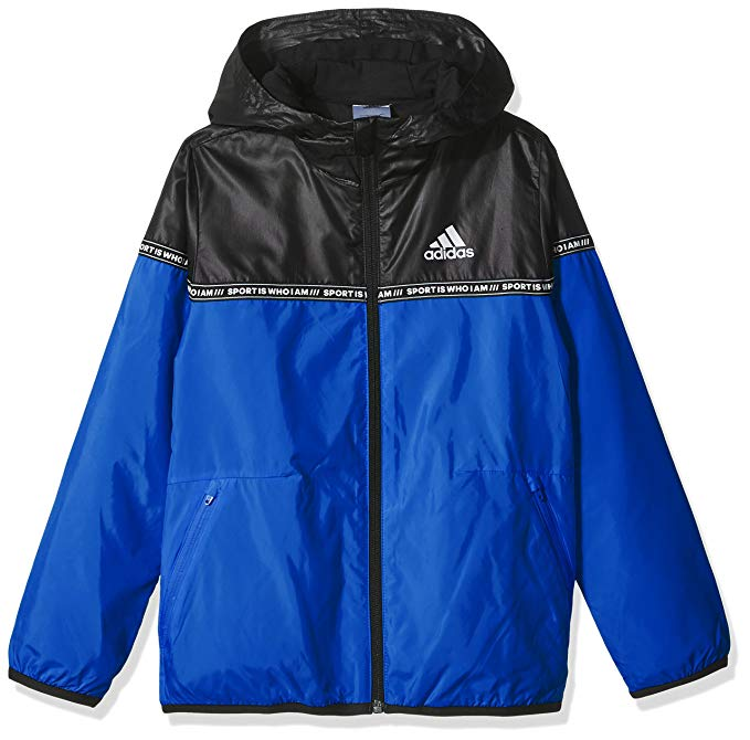 Adidas trẻ em Adidas trai Big Boy dệt áo khoác YB SJ WV JKT