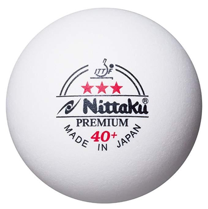 Nittaku Đồ dùng dã ngoại Bóng bàn Nittaku bóng nhựa được quốc tế công nhận 3 sao *** 1 lần chơi NB 1