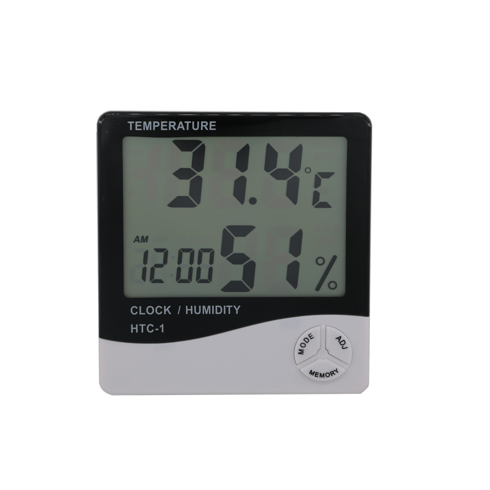 HANDIAN Đồng hồ đo nhiệt độ , độ ẩm Nhà máy sản xuất dụng cụ sản xuất trong nhà màn hình lớn nhiệt k