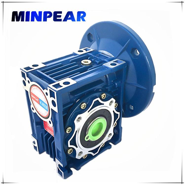 MINPEAR Máy giảm tốc Thâm Quyến bán trực tiếp giảm tốc bánh răng sâu NMRV050 hỗ trợ động cơ hợp kim