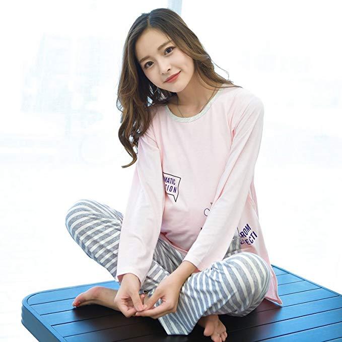 CIYAN Trang phục trong tháng (sau sinh) Yuezi quần áo dài tay sau sinh cho con bú đồ ngủ cho con bú