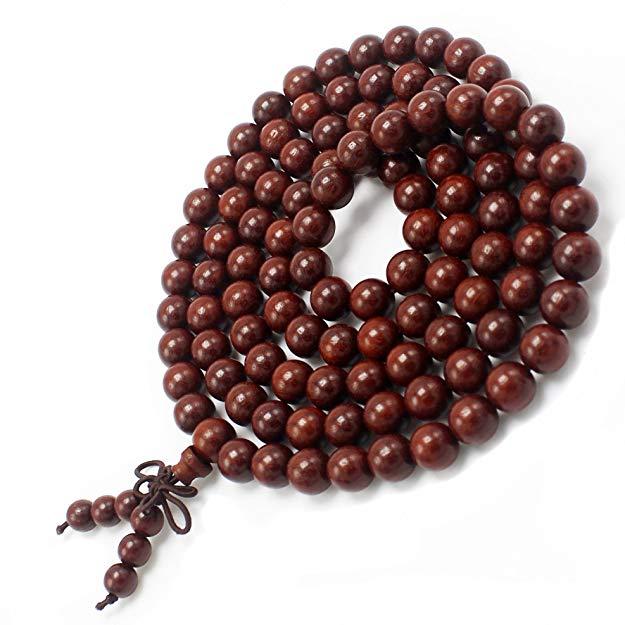 JIIUZUO Chuỗi phật Mary Bead Bracelet 108 Dép cầu nguyện Thiền 8 mm