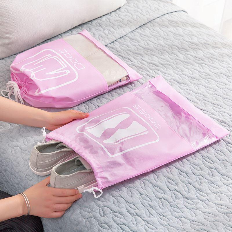 Túi quần lót dây chùm hút lấy túi quần áo giày túi du lịch trong suốt xếp hàng túi