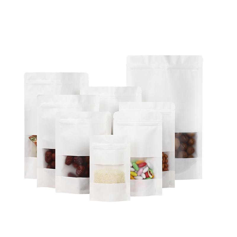 - trong túi giấy nâu trắng 20*30 cửa sổ tự phong bao gói thực phẩm tự lập trái cây khô hạt dưa túi 1