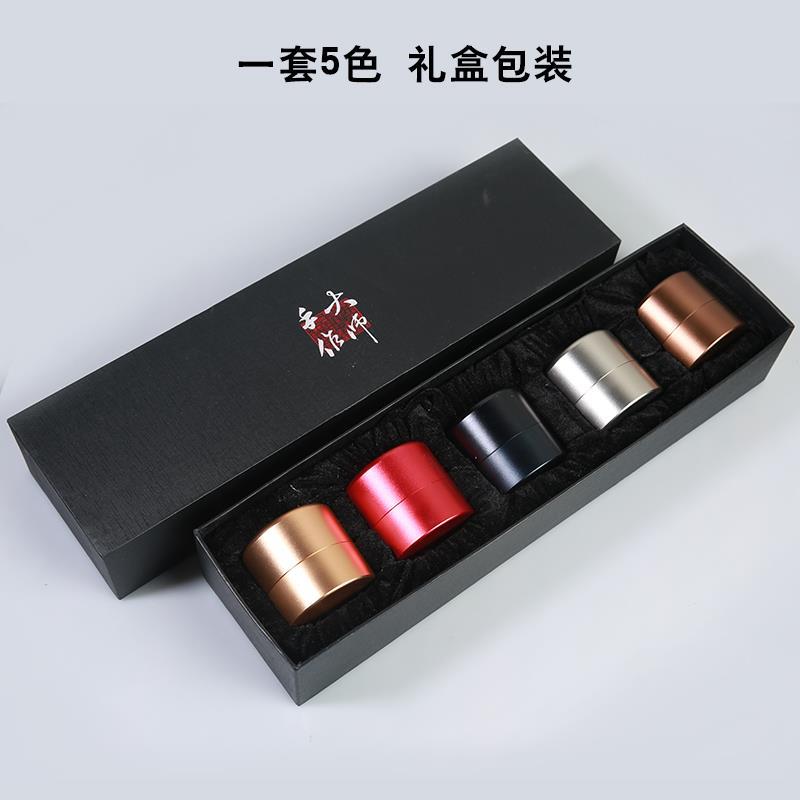 Hũ kim loại Xe du lịch Trà bình thép không gỉ bên hộp kim loại titan xách tay kèn trà trà.