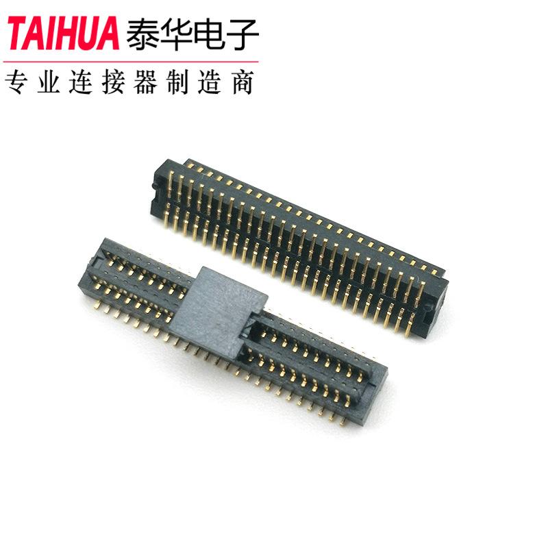 TAIHUA Giắc cắm Bảng BTB để kết nối bảng 0.8mm 2X25P nữ Kết nối PCB Bảng đôi để kết nối bảng mạ Vàng