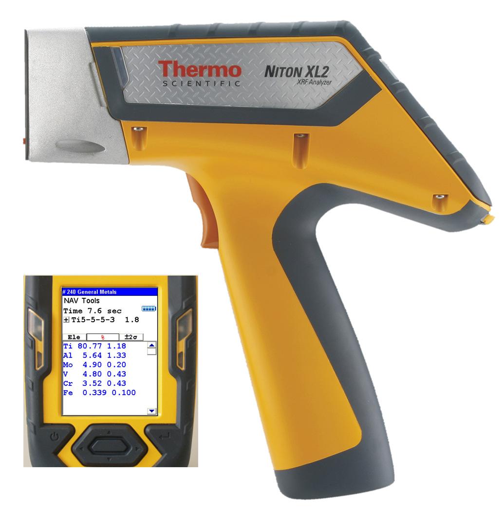 NITO Dụng cụ phân tíchMáy phân tích hợp kim cầm tay Niton nito XL2100G mới nhất của Mỹ