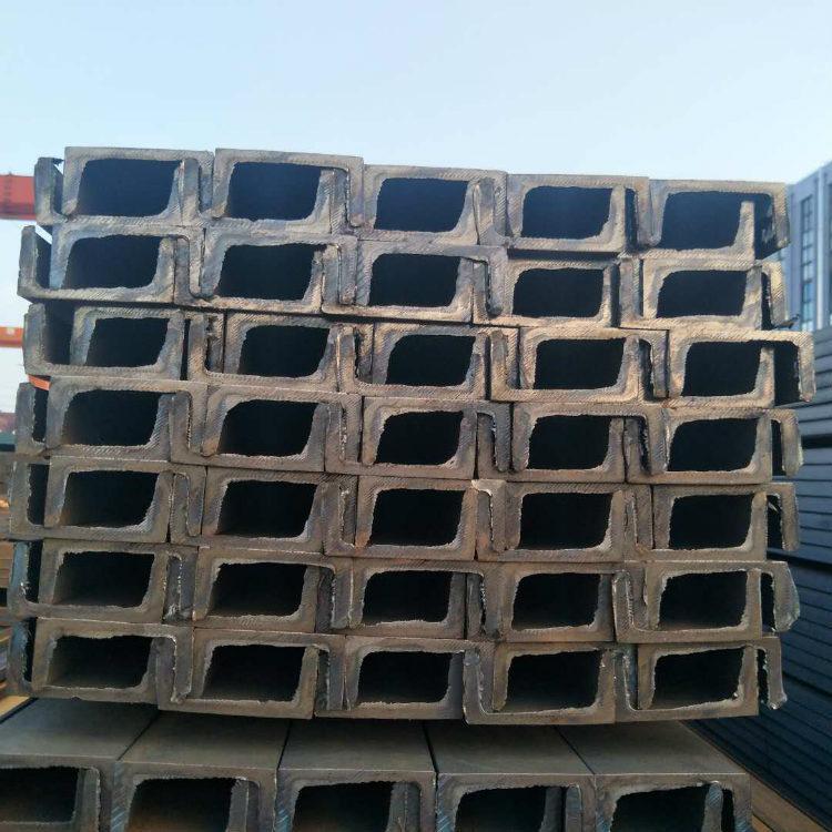 TANGGANG Thép chữ U Thép cổ phiếu Thượng Hải Q235B GB kênh rãnh hình chữ U Thép kênh mạ kẽm nhúng nó