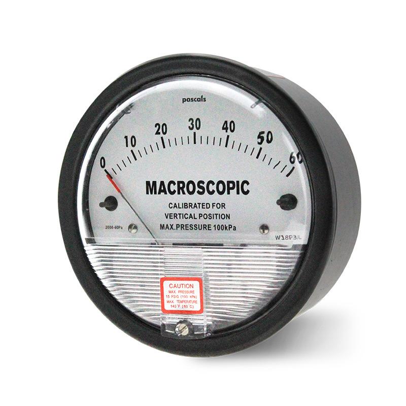 Macroscopic Đồng hồ chuyên dùng (0 ~ 60pa) Đồng hồ đo áp suất chênh lệch Maikels MACROSCOPIC Đồng hồ