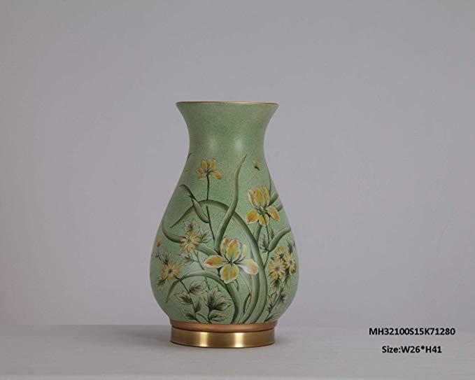 MSK Đồ trang trí bằng gốm sứ Gian hàng nhà MSK, trang trí bình gốm bằng đồng (không phải nước), mài