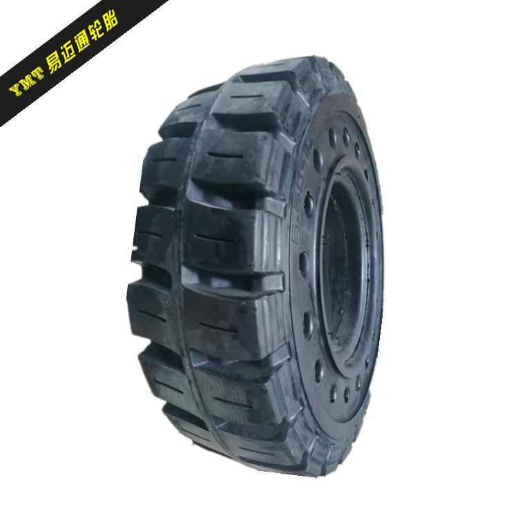 QINTAI Bánh xe 3 tấn lực với lốp xe nâng lỗ 6.50-10 Hang xe nâng hàng lốp khí nén 28 * 9-15
