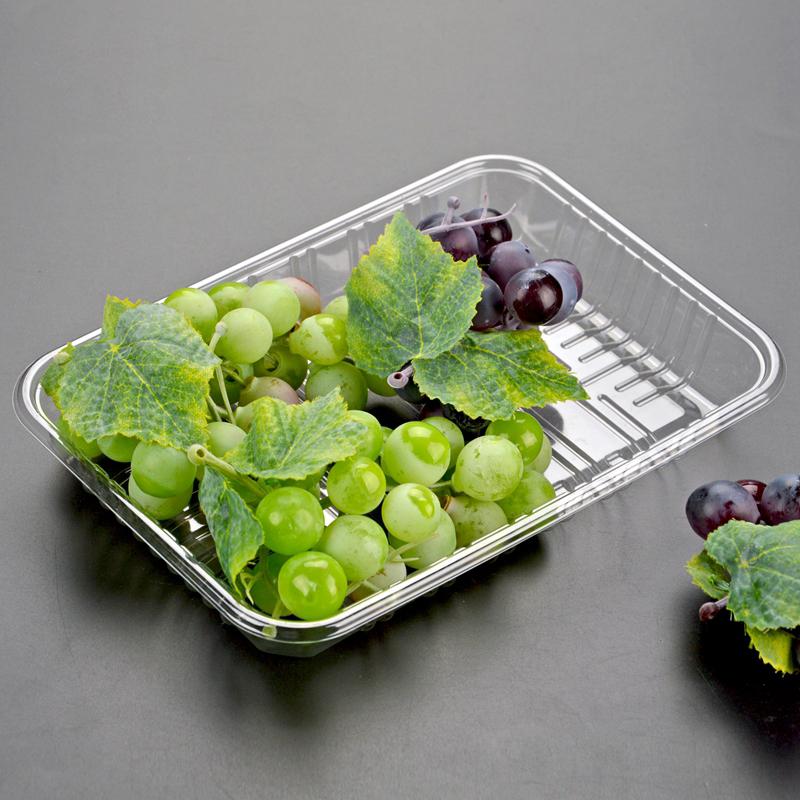 Mâm nhựa / Pallet nhựa Khay nhựa dùng một lần Pet mâm đựng trái cây rau quả đóng hộp đồ ăn siêu thị