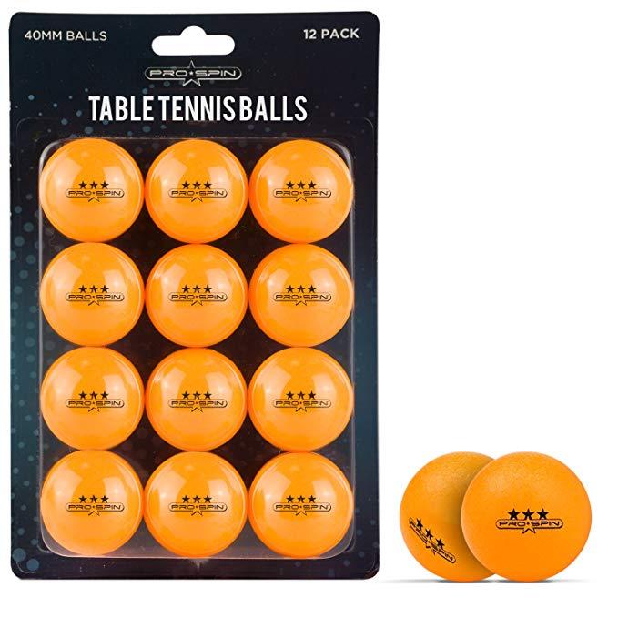 ProSpin Đồ dùng dã ngoại Bóng bàn 40mm ProSpin-USA - 12 Gói - Bóng bàn màu trắng hoặc màu cam