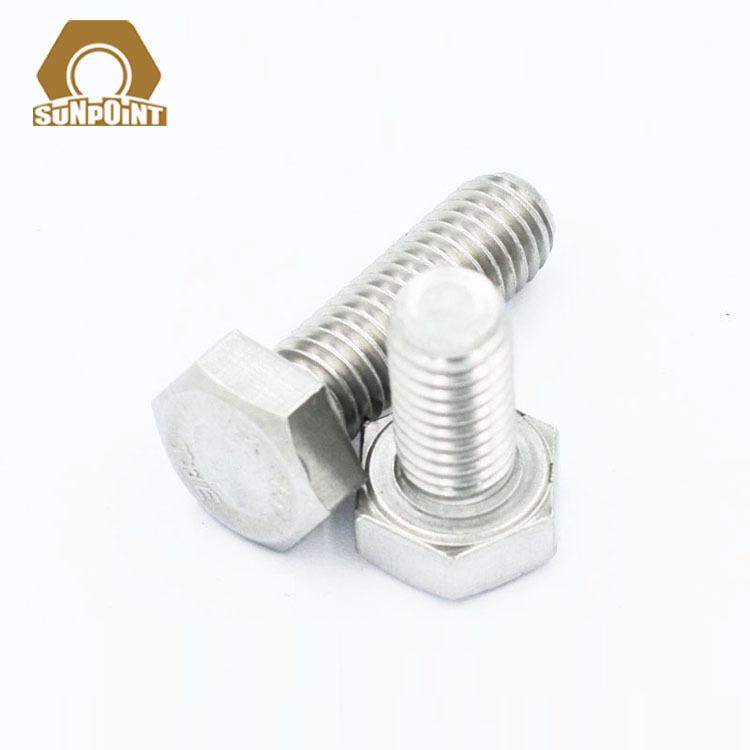 DONGMING Ốc vít Bu lông thép không gỉ Dongming 304 DIN933 hex răng đầy đủ M4 / 5/6/8