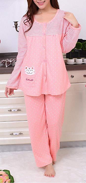 DZCZM Trang phục trong tháng (sau sinh) Bà bầu mặc bà bầu cho con bú Bộ đồ ngủ phù hợp với bà bầu ch