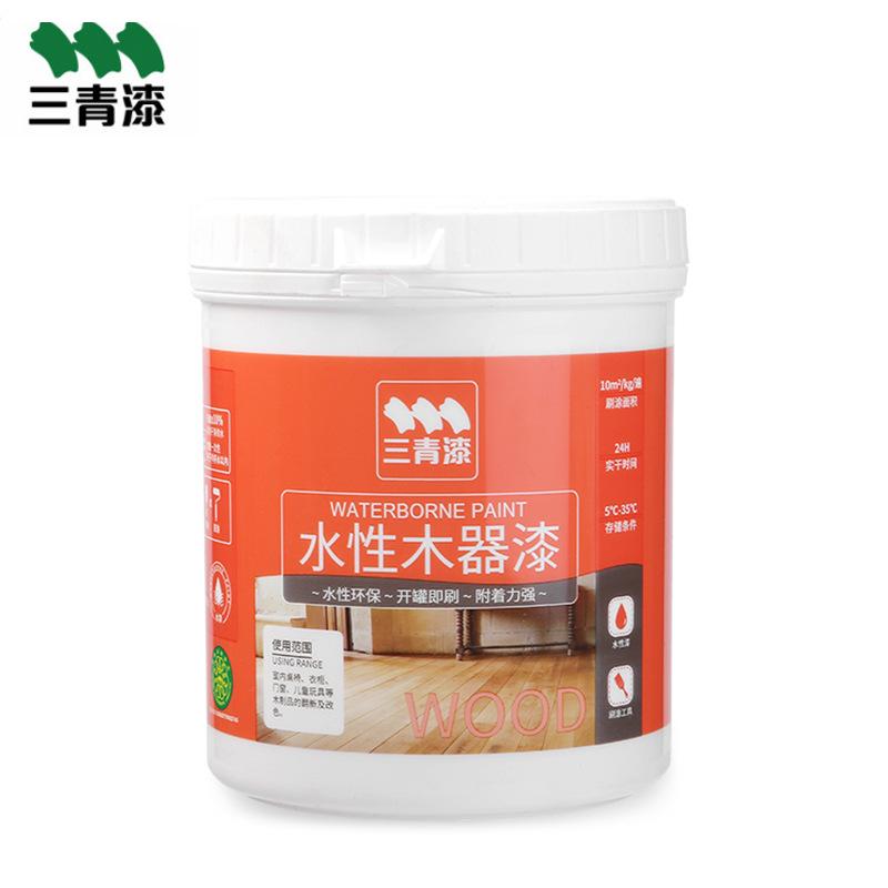 SANQINGQI Sơn Nhà máy trực tiếp sơn nước gỗ 0,5L cửa gỗ nội thất gỗ rắn đổi mới sơn chống thấm sơn g