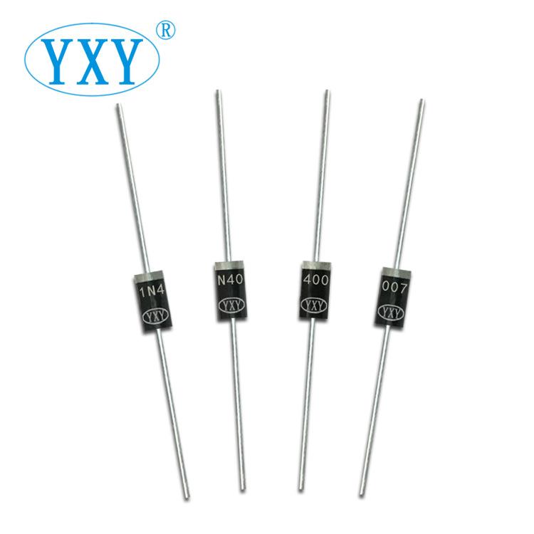 YIPINYUAN Điốt bán dẫn Nhà máy sản xuất trực tiếp 1N4007 DO-41 plug-in IN4007 chỉnh lưu chân dài 58M