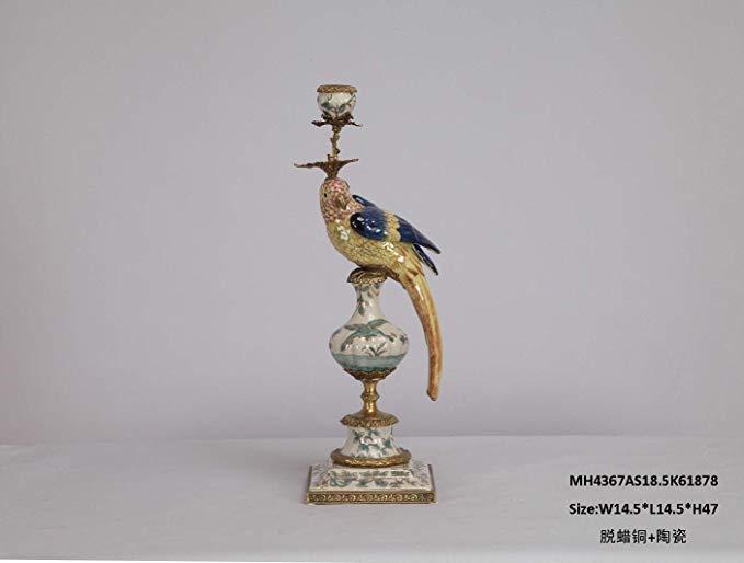 MSK Đồ trang trí bằng gốm sứ Gian hàng gia đình MSK, đồ trang trí chim bằng đồng phủ sương, màu sắc