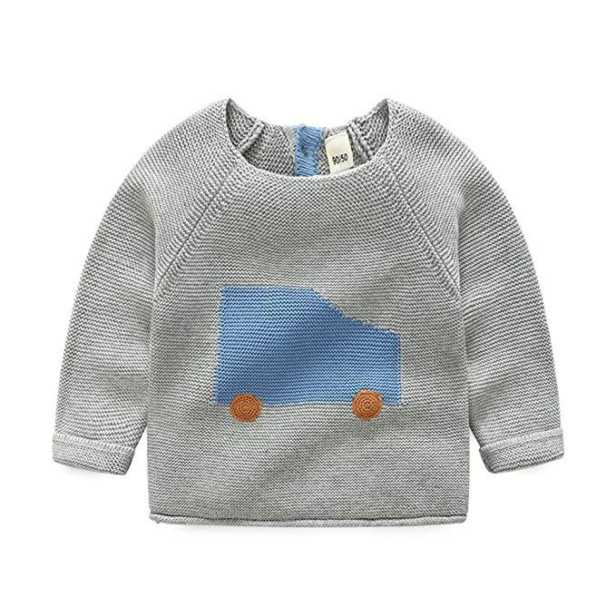 Trẻ em mùa xuân và mùa thu quần áo mùa đông trai bông áo thun Hàn Quốc phiên bản của cậu bé áo len t