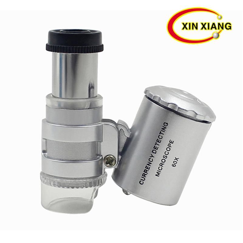XINXIANG Dung cụ quang học Nhà máy trực tiếp 60 lần kính hiển vi LED ánh sáng màu tím ánh sáng đèn g