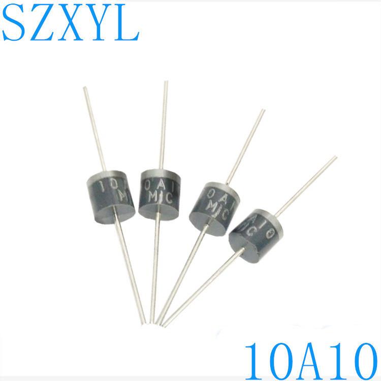 Nhà máy trực tiếp cắm dây 10A10 chỉnh lưu diode R-6 gói chỉnh lưu diode ổn định chất lượng