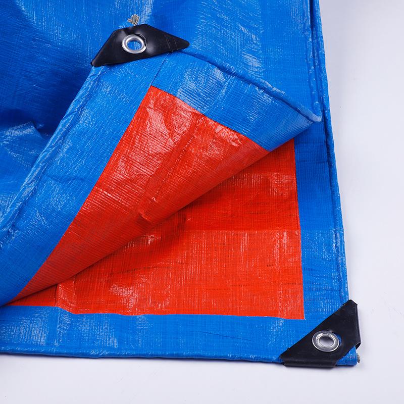 Bạt nhựa Nhà sản xuất vải bạt màu xanh da cam poncho dày không thấm nước màng vải dệt vải bạt nhựa x