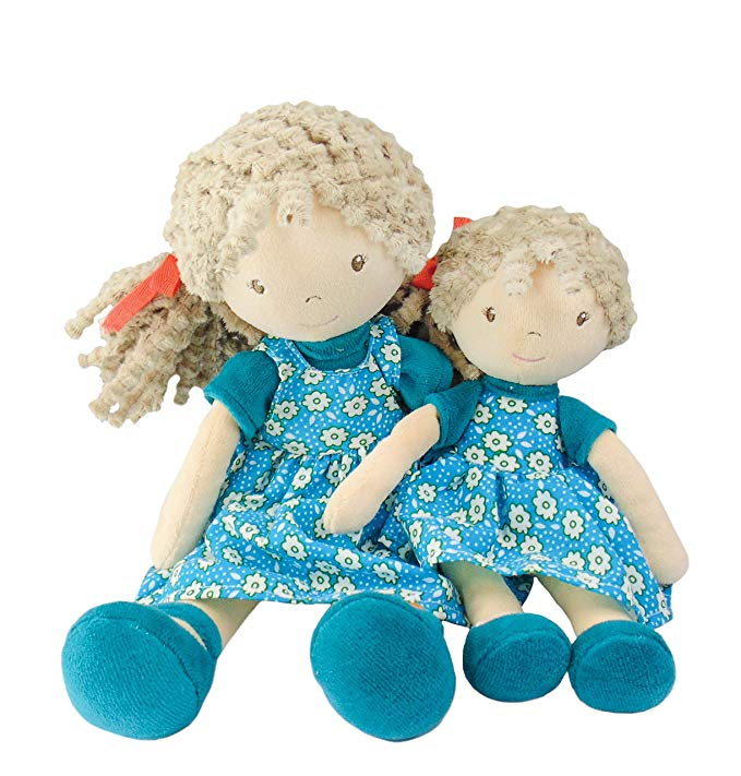 Búp bê mặc đầm hoa xanh Millie Lu Bonikka Dolls