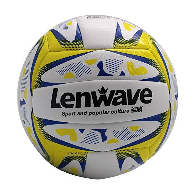 LENWAVE Đồ dùng dã ngoại Bóng chuyền bơm hơi mềm thứ 4 cho trẻ em tiểu học trò chơi đào tạo bóng siê