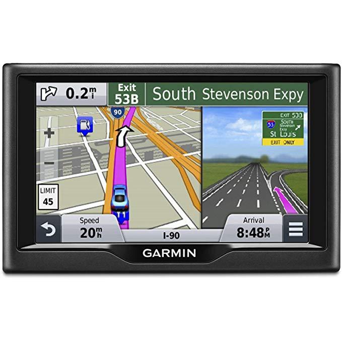 Hệ thống định vị GPS của Garmin nüvi 55LM với hướng quay bản đồ .