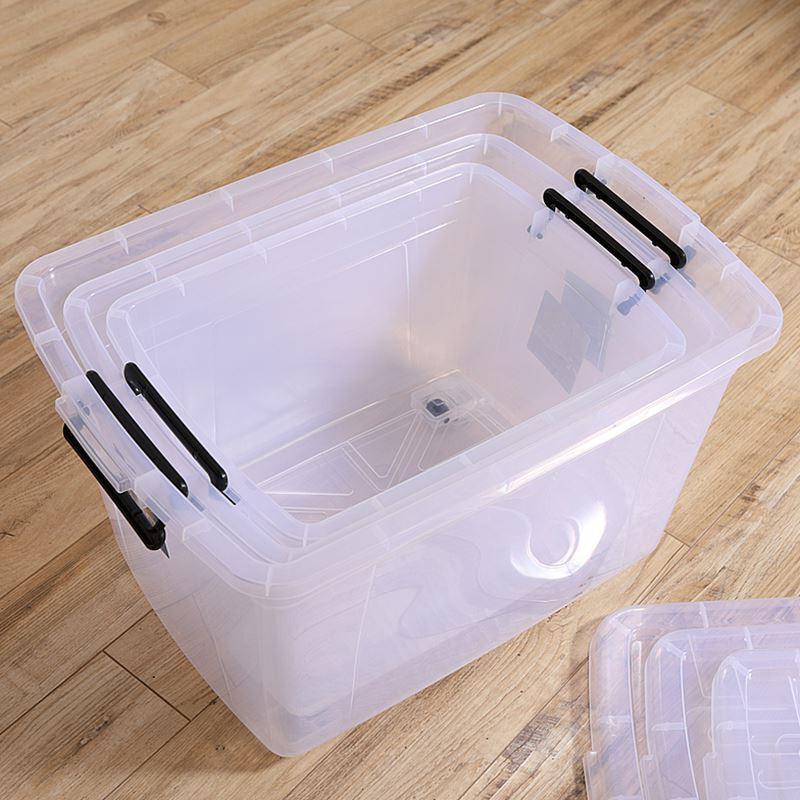 Thùng nhựa Nhật Bản WM130l lấy thùng nhựa trong suốt Chiến dịch cao cấp thực phẩm ngăn chứa có nắp h