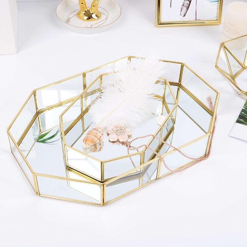Mâm nhựa / Pallet nhựa 18 năm mới đồng một đồ trang sức thu nạp đĩa vàng IN Bắc Âu Mỹ phẩm trang trí