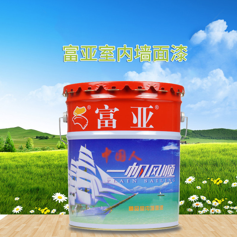 FUYA Sơn Bán buôn sơn latex latex Fuya Yifan Winding Wall Hoàn thiện 21kg / thùng Sơn latex trắng tr