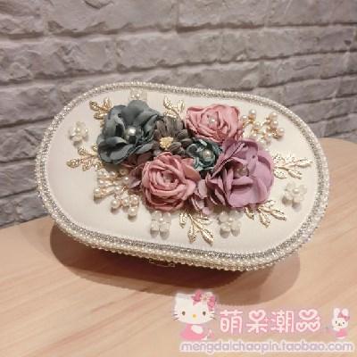 Hộp trang sức Hộp nữ trang sáng tạo hoa PU thu nạp hộp trang sức. Công chúa châu Âu hộp nữ trang hộp