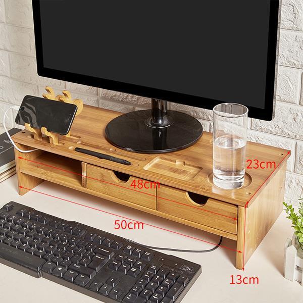 Hộp gỗ Bảo vệ màn hình màn hình tinh thể lỏng cổ máy tính tăng kệ cái nền màn hình bàn phím tiếp nhậ