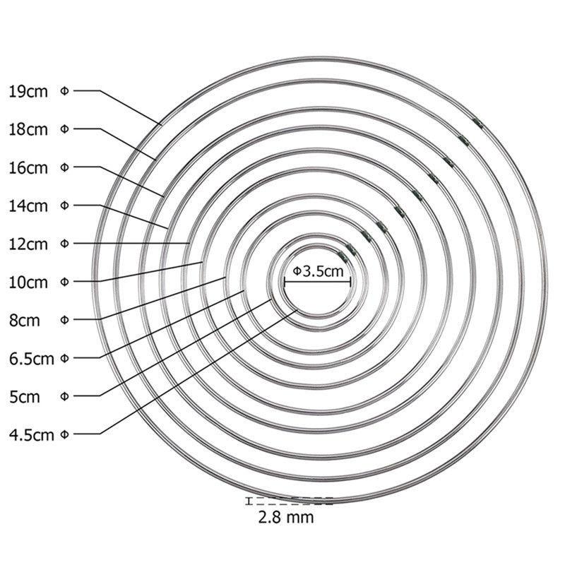 Vật liệu kim loại DIY thủ công giấc mơ bắt vật liệu vòng tròn kế thừa giấc mơ bắt kim loại vòng sắt