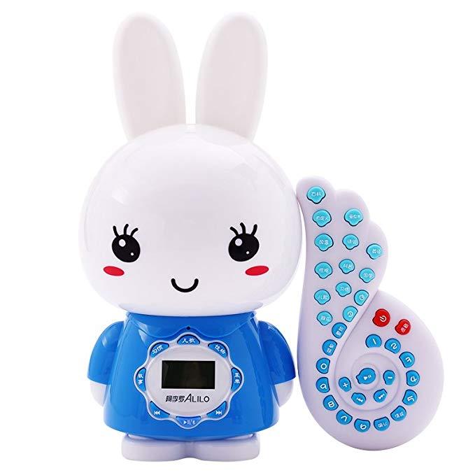 Máy học tập cho trẻ em hình thỏ có phím bấm màu xanh dương