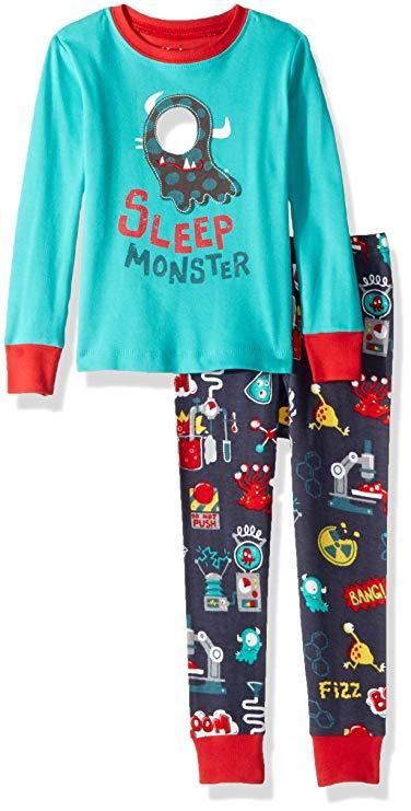 Hatley trai hữu cơ bông dài tay áo một mảnh pajama bộ