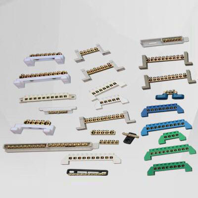 HAOXIN Cầu đấu dây Domino Xử lý liên kết chuyên dụng tùy chỉnh Thiết bị đầu cuối không nối đất thiết