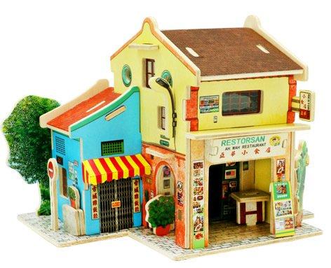 Robotime 3D ghép hình ba chiều bằng gỗ ghép hình đồ chơi giáo dục trẻ em sáng tạo theo phong cách th