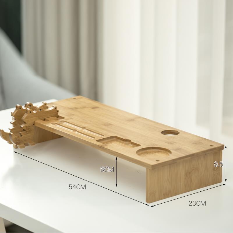 Hộp gỗ Bảo vệ màn hình màn hình máy tính cổ tăng kệ cái nền màn hình bàn phím tiếp nhận xếp chiếc hộ