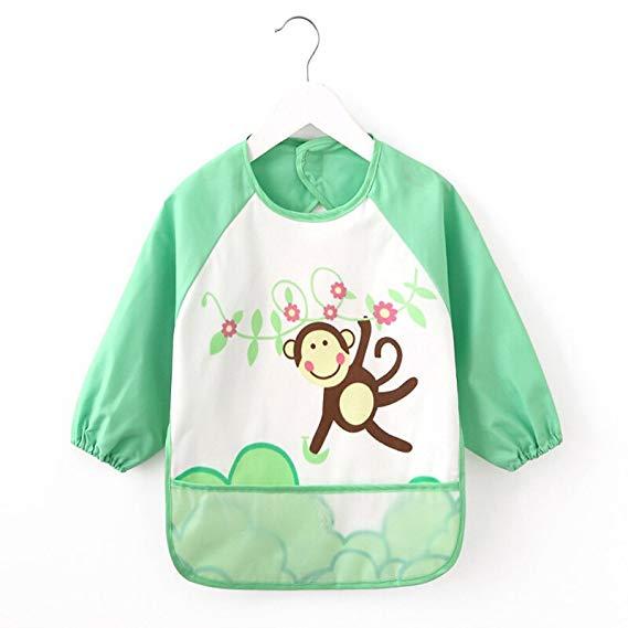 9i9 Áo khoác long love long quần áo hoạt hình tranh áo chống mặc (90 (6 tháng - 2 tuổi), màu xanh lá
