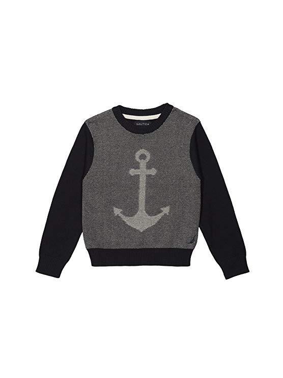 Nautica Boy vòng cổ jacquard neo áo len
