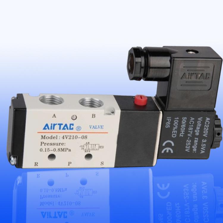 AirTac Linh kiện khí nén Van điện từ Yadeke 4V210-08DC24V / AC220V Van điện từ cơ khí thành phần